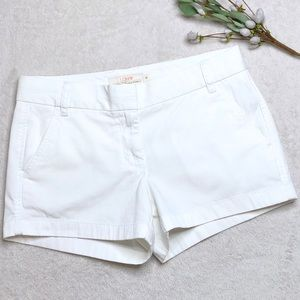 "J. Crew | White Chino Shorts - 3"" inseam"